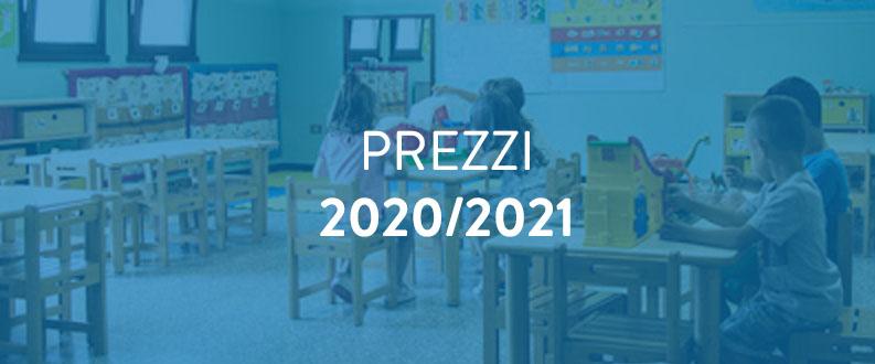 Costi Anno Scolastico 2020/2021